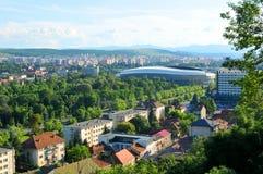 stadion för arenaregnsport Arkivbild