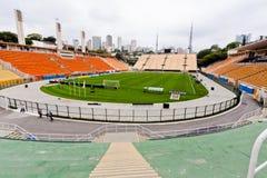 stadion för fotboll för pacaembupaulo sao Arkivbilder