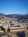 stadion för genoa marassipanorama arkivfoto