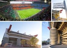stadion för giuseppe italy meazzamilan fotboll Royaltyfri Bild