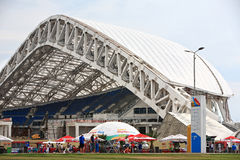 Stadion Fisht-Rekonstruktion in Sochi stockfotos
