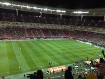 Stadion Guadalajara Mexico. Football  Play Game Royalty Free Stock Images