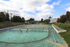 Stadion i Yaroslavl Arkivbilder