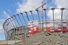 Stadion im Bau Stockfotografie