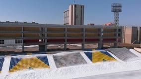 Stadion im Freien im Fr?hjahr stock video