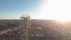 Stadion im Freien im Winter stock video footage
