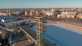 Stadion im Freien im Winter stock footage