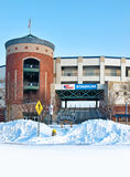Stadion im Winter Lizenzfreie Stockfotos