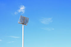 Stadion-Leuchte Stockfotos