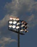 Stadion Leuchte-Dämmerung Stockfotos