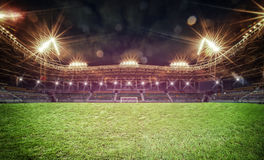 Stadion in lichten royalty-vrije stock foto's