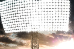 Stadion Light In Dark Clouds Sunset Royalty Free Stock Image