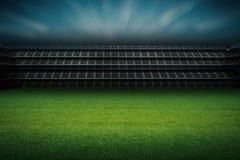 Stadion med fotbollfältet Fotografering för Bildbyråer