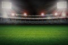 Stadion med fotbollfältet arkivbild
