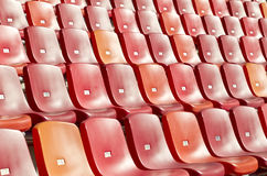 Stadion med rena stolar Fotografering för Bildbyråer
