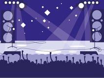 Stadion med vaggar konsert royaltyfri illustrationer