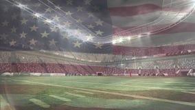 Stadion met Amerikaanse vlag