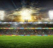 Stadion met ventilators Royalty-vrije Stock Foto's