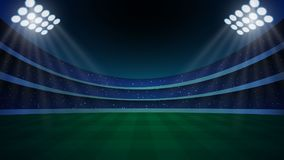stadion met verlichting, vector illustratie