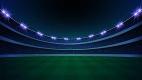 stadion met verlichting, royalty-vrije illustratie