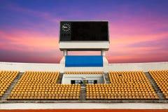 Stadion mit Anzeigetafel Lizenzfreie Stockfotos
