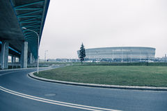 Stadion, moderne architectuur in Wroclaw Polen royalty-vrije stock afbeeldingen