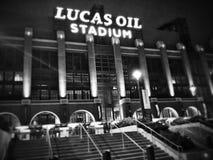 Stadion @ Nacht Stock Afbeeldingen