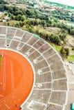 Stadion och cityscape av Helsingfors Royaltyfria Bilder