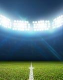 Stadion och fotbollgrad Royaltyfria Bilder