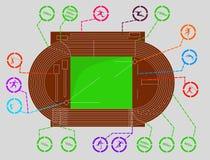 stadion olimpijski ilustracja wektor