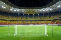 Stadion på natten Arkivfoto