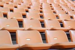 Stadion placerar för besökare någon sport eller fotboll Arkivbild