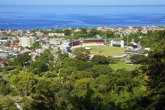 Stadion in Roseau, Dominica lizenzfreies stockfoto