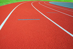 Stadion. Running tracks on the athletics stadium Stock Photography
