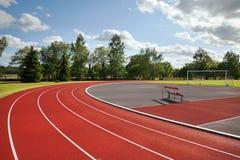 Stadion. Running tracks on the athletics stadium Royalty Free Stock Image