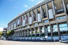 Stadion Santiagos Bernabeu von Real Madrid, Spanien Stockfotografie
