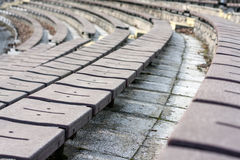 Stadion seats Royalty Free Stock Photo
