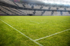 Stadion tegen 3d hemel Royalty-vrije Stock Afbeeldingen