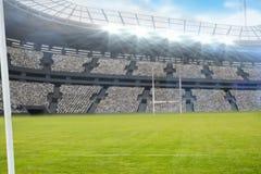 Stadion tegen 3d hemel Royalty-vrije Stock Foto's