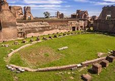 Stadion van Domitian, Palatine Heuvel, Rome Royalty-vrije Stock Foto
