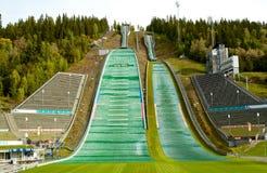 Stadion van Lillehammer het olympische spelen in Noorwegen Stock Fotografie