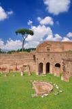Stadion von Domitian auf Palatine-Hügel lizenzfreie stockfotos