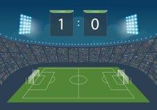 Stadion voor spel in voetbal Royalty-vrije Stock Afbeeldingen