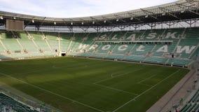 Stadion in Wroclaw Polen Stock Afbeeldingen