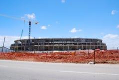Stadionaufbauseite Stockfoto