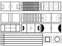 Stadioner Stock Illustrationer