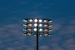 Stadionfläck-ljus torn Fotografering för Bildbyråer
