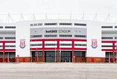 Stadionhemmet för vad 365 av den Stoke City fotbollklubban arkivfoto
