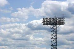 Stadionleuchten Stockfoto