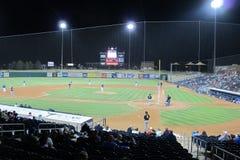 Stadionljus på en basebollarena Royaltyfri Fotografi